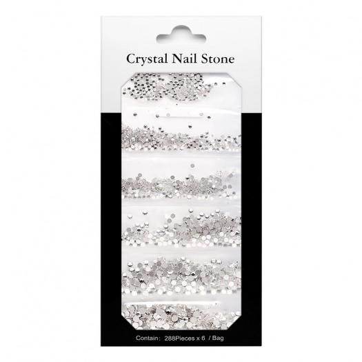CRYSTAL NAIL STONE KIT - clear - 6x288 Pcs