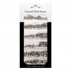 CRYSTAL NAIL STONE KIT - black - 6x288 Pcs