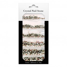 CRYSTAL NAIL STONE KIT - topaz - 6x288 Pcs