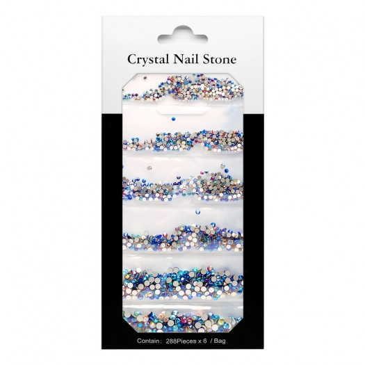 CRYSTAL NAIL STONE KIT - multi - 6x288 Pcs