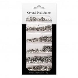 CRYSTAL NAIL STONE KIT - black - 6x288 Pcs