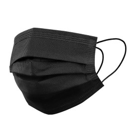 Mundschutz 3 Lagig - 50 Stück - Black