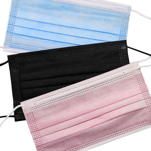 Mundschutz Bundle - Black-Pink-Blue 3x50 Stück