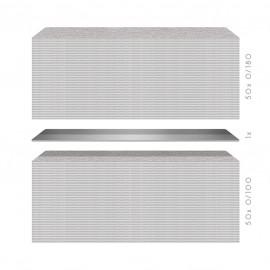 100 Hygiene Wechselblatt Longlife - EXTRA-BREIT - K100 und K180 - je 50 Stück