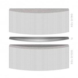100 Hygienic Long-Life interchangeable file blade -Trapezoidal shape - K 100 / K180- 50PCS each