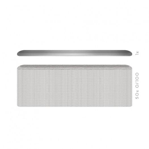 Hygienic Long-Life interchangeable file blade- SMALL WIDE - K 100 - 50PCS Kit