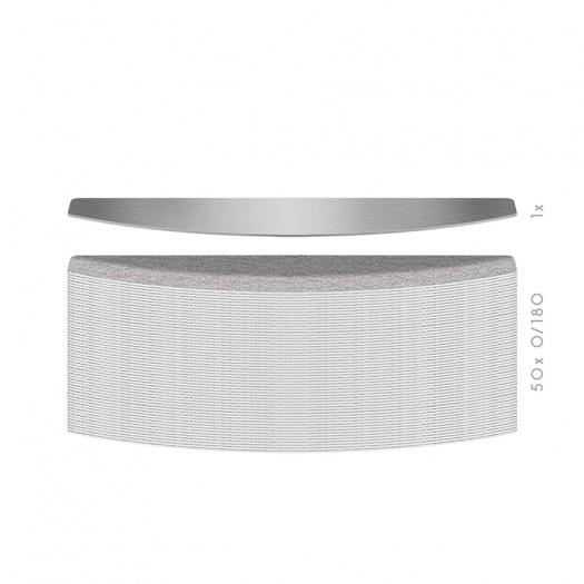 Hygienic Long-Life interchangeable file blade -Trapezoidal shape - K 180 - 50PCS Kit