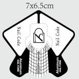 Nail:Code - Aluminium High Performance Schablonen ,Rolle 500Stk.